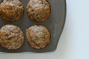 Zucchini, Banana & Flaxseed Muffins  nourishpurely.ca