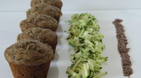 zucchini, banana & flaxseed muffins