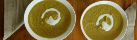 Homemade Healthy Roasted Curried Cauliflower Soup